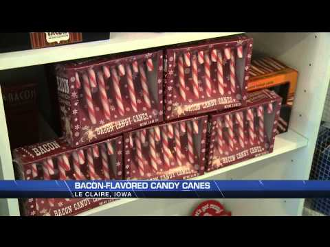 Fun with bacon-flavored candy canes on WQAD