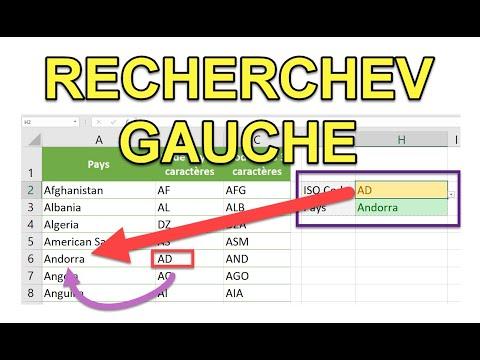 Excel - Effectuer une RECHERCHEV vers la gauche