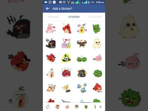 How to post stickers in facebook