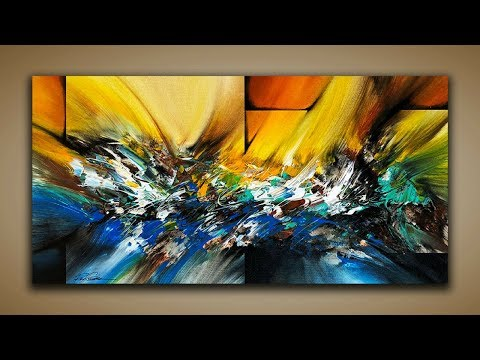 Abstract Painting / DEMO 65 / Abstract Art / How to Paint / Blending Acrylics / Painting Techniques