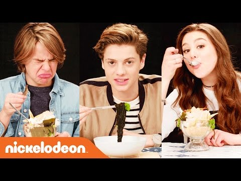 Nickelodeon-Inspired Food Taste Test w/ Jace Norman, Kira Kosarin & More | Nick