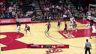 Sanders to Sa for the Dunk vs. Fordham
