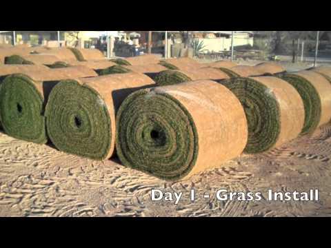 Football Field Grass Installation Project 2010-2011