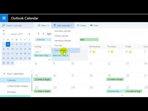 How to import ics calendar like Google in outlook webmail 365