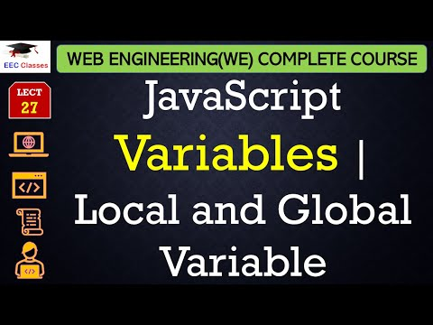JavaScript Lecture 3 - Local and Global Variable, How to declare Global Variable inside a Function