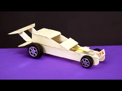 How to make F1 Car with Rubber Band at Home
