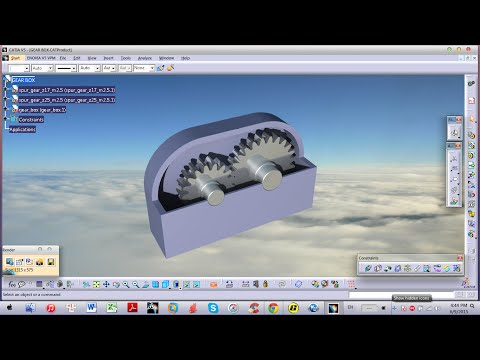 CATIA v5 | Make GEAR BOX in Assembly Environment