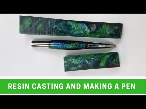 Casting a pen blank and making a pen
