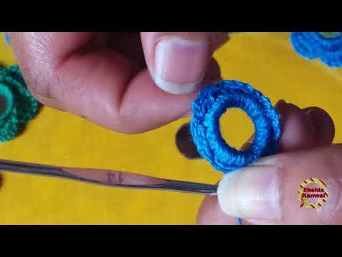 Flower Mirror Work:Hand Embroidery//Shisha Work