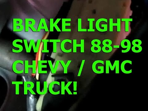 Chevy Silverado 88-98 brake light switch replacement GMC Sierra tahoe Suburban