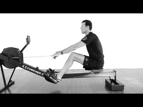 Learn to row on indoor rower. Basic rowing for new crossfitters