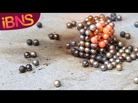 Super-heating buckyballs (neodymium spheres) to over 1000 degrees