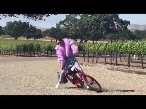 Kendall Jenner FALLS Off Bike, Lands on Her Face!
