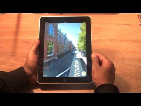iPad - Google maps and street view