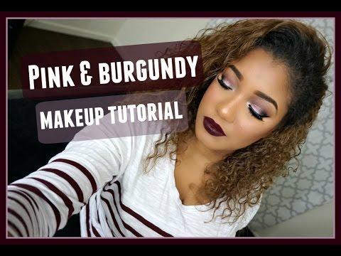 Pink & Burgundy Makeup Tutorial | M.A.C Liquid Lipstick
