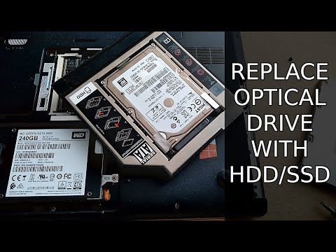 Replacing optical drive with HDD/SSD in Toshiba Satellite C55-A-1FN Laptop