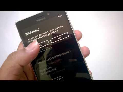 How to Reset Nokia Lumia 925 to Factory Settings