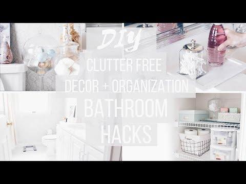 Bathroom Organization + DIY Decor |  Budget Friendly | Anthropologie + Pinterest Inspired