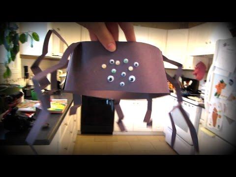 Halloween Spider Hat Craft   Vlog #262