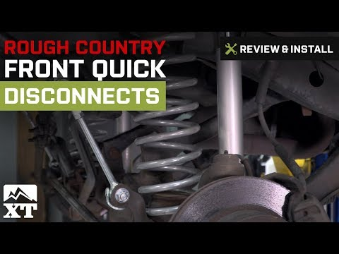 Jeep Wrangler Rough Country Front Quick Disconnects (1997-2006 TJ) Review & Install