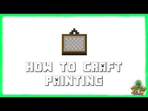Minecraft 1.12.2: How to Make PAINTINGS! Recipe Tutorial for Minecraft Minecraft 1.12.2 | 2018