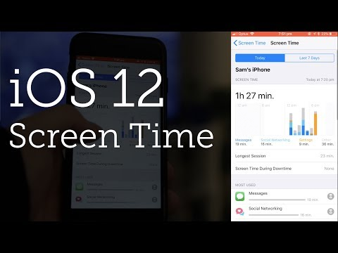 Screen Time for iOS 12
