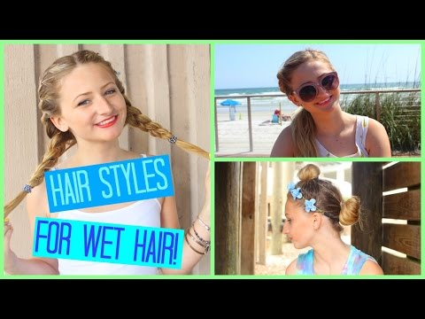 SIMPLE Hairstyles For WET Hair!