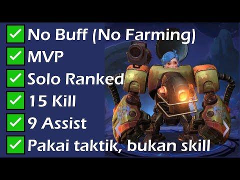 No BUFF Bisa MVP? Bisaaaa.. Solo Ranked Tutorial Mobile Legends (Jawhead)
