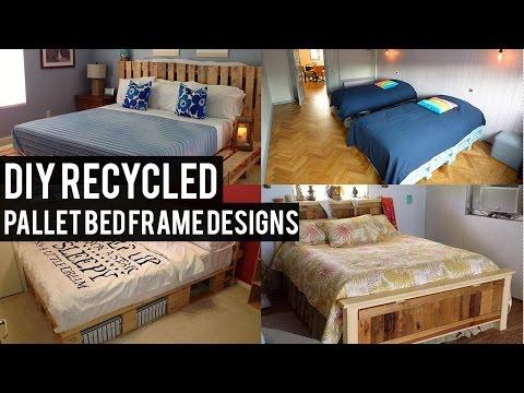 DIY Recycled Pallet Bed Frame Designs