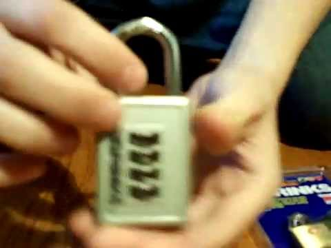 Brinks TSA luggage lock picked out of package