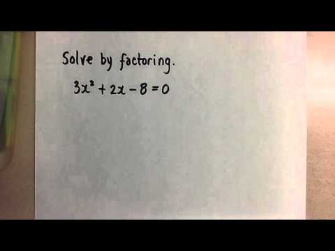 Solving Quadratics by Factoring by Decomposition