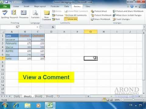 Using Excel 2010 - Add a Comment to a Cell