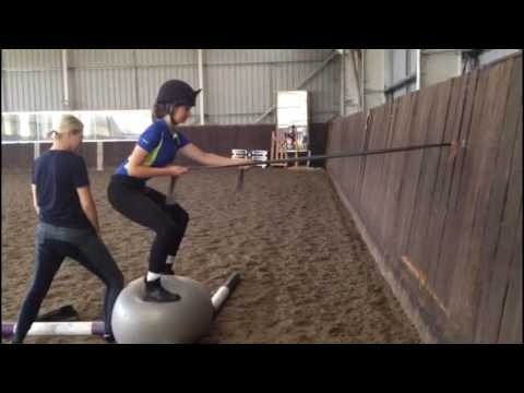 Rider Fitness/Balance exercise with Pilates Ball