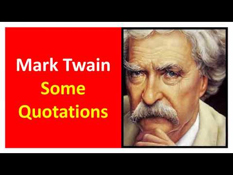 B.R.Chavan's collection of Mark Twain's Some quotations