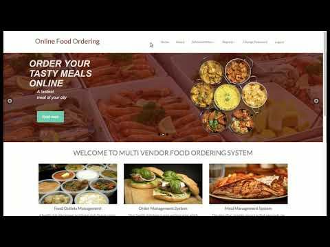Multi Vendor Food Ordering System