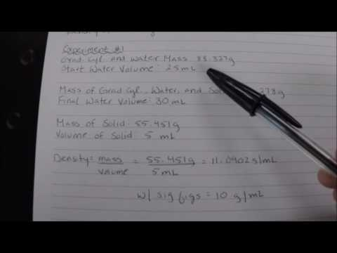How to Find the Density of an Irregular Solid