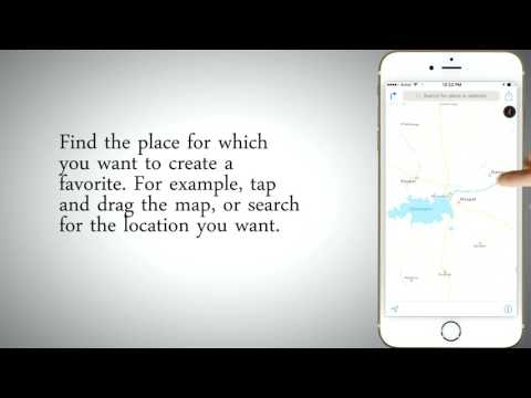 How to Use Maps' Favorites and Contacts in iPhone