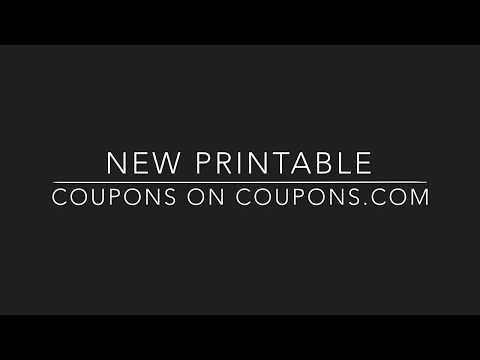 New printable coupons on coupons.com & how to print