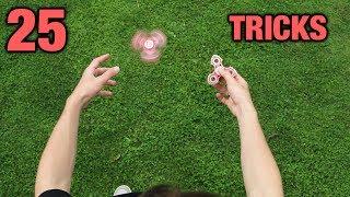 Download 25 FIDGET SPINNER TRICKS Video