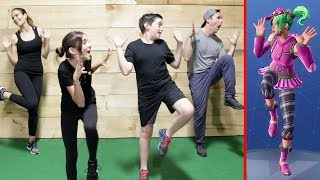 FORTNITE DANCE CHALLENGE! - (Workout in Real Life)