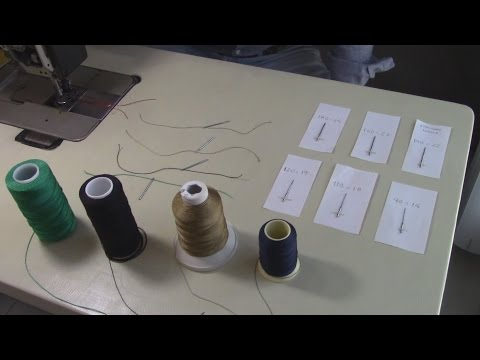 LEATHER UPHOLSTERY BASICS-Threads&Needles for a Pfaff1245-TUTORIAL