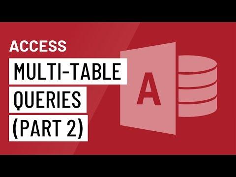 Access 2016: Multi-Table Queries (Part 2)
