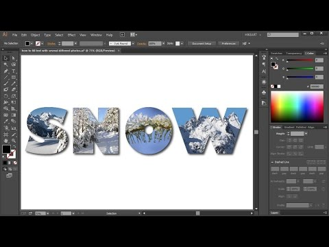 How to Fill Text with Several Different Photos in Adobe Illustrator