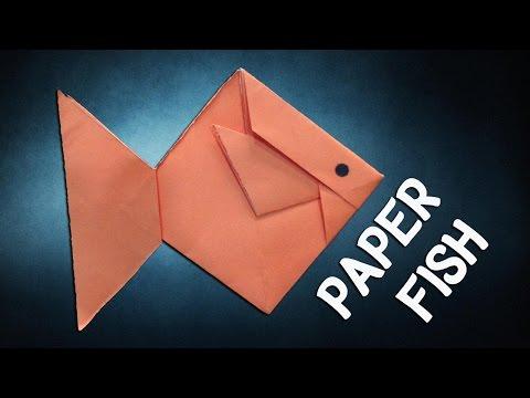 Paper Fish Making - Easy Origami Fish Tutorial