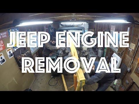 Jeep Wrangler Engine Removal