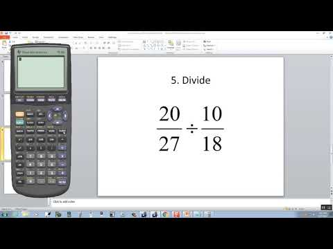 Technology in College Algebra - Fractions - TI-83