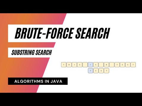 Brute-Force Substring Search Algorithm