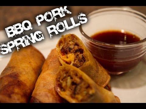 BBQ Pulled Pork Spring Rolls