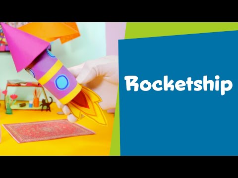 How to Make a Paper Rocketship | SuperHands: Easy Crafts, DIY Craft Ideas for Kids, Paper Toys