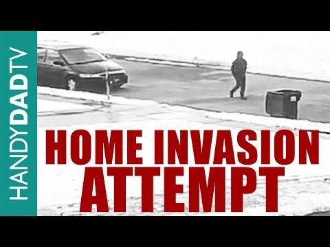 Home Invasion Attempt caught on Surveillance